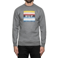 Реглан HUF Serape box logo crewneck grey heather -30%