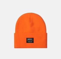 Шапка WeSC Puncho beanie neon orange -30%