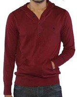 Пуловер Nixon Nooner pullover hood sweat in Bordeaux -50%