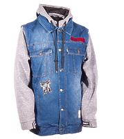 Сноубордическая куртка Technine Denim Vest indigo fade/heather grey -50%