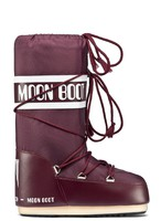 Зимние детские сапоги, мунбуты Tecnica Moon Boot Nylon junior burgundy -30%