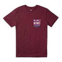 Футболка HUF Guatemalan pocket tee burgundy -50%
