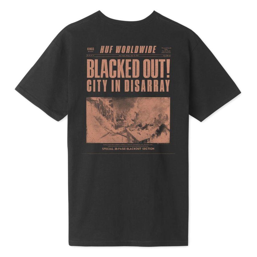 Футболка HUF SP19 Blacked out tee black