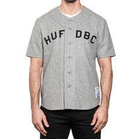 Джерси HUF SF Captain's baseball jersey gray wool -30%