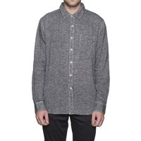 Рубашка HUF Course L/S Chambray shirt black