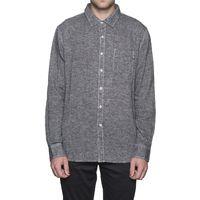 Рубашка HUF Course L/S Chambray shirt black