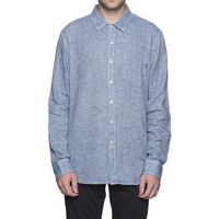 Рубашка HUF Course L/S Chambray shirt blue