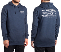 Реглан HUF Heritage pullover navy heather -30%