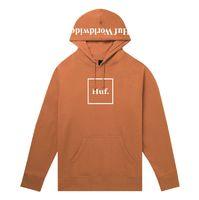 Худи HUF FA19 Box logo pullover hoodie rust