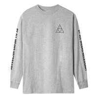 Лонгслив HUF SP21 Triple triangle ls tee heather grey