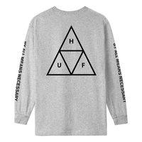Лонгслив HUF SP20 Triple triangle ls tee heather grey