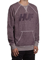Реглан HUF Vintage 10k Crew heather wine -40%