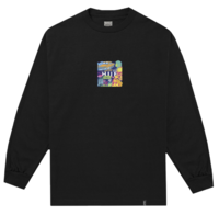 Лонгслив HUF HO19 Comics box logo ls black