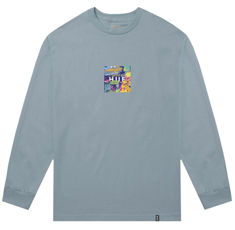 Лонгслив HUF HO19 Comics box logo ls cloud blue