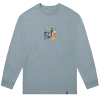 Лонгслив HUF HO19 Comics box logo ls cloud blue