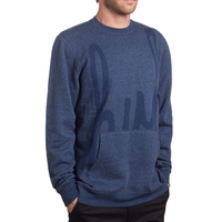 Реглан HUF Big Script crew navy heather -30%