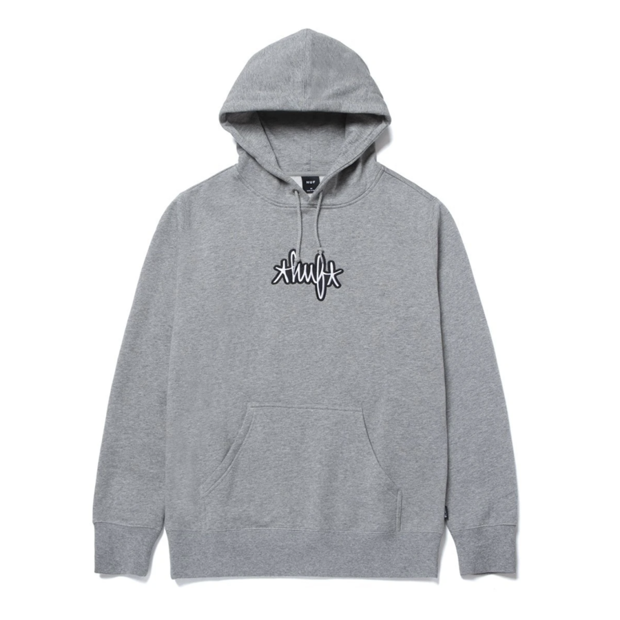 Худи HUF HO20 Landmark hoodie grey heather