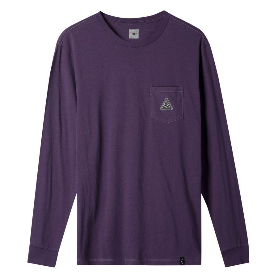 Лонгслив HUF FA19 Peak patch ls tee purple velvet