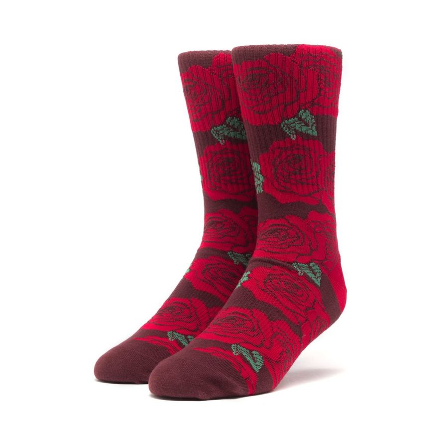 Носки HUF HO18 Rosette sock red -30%