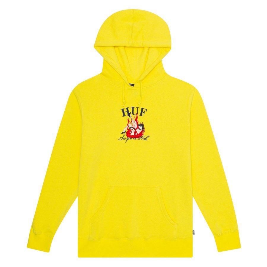 Худи HUF HO19 See you in hell blazing yellow -30%