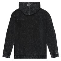 Реглан HUF HO18 Serif Stack frost wash pullover hoodie black