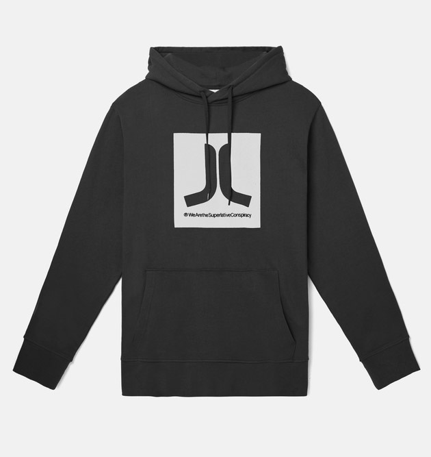Реглан WeSC Fall18 Box Icon hooded sweatshirt black -30%