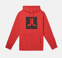 Реглан WeSC Fall18 Box Icon hooded sweatshirt flame scarlet -50%