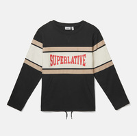 Свитшот WeSC Fall18 Madison Superlative sweatshirt black -50%