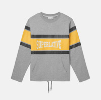 Свитшот WeSC Fall18 Madison Superlative sweatshirt grey melange -30%