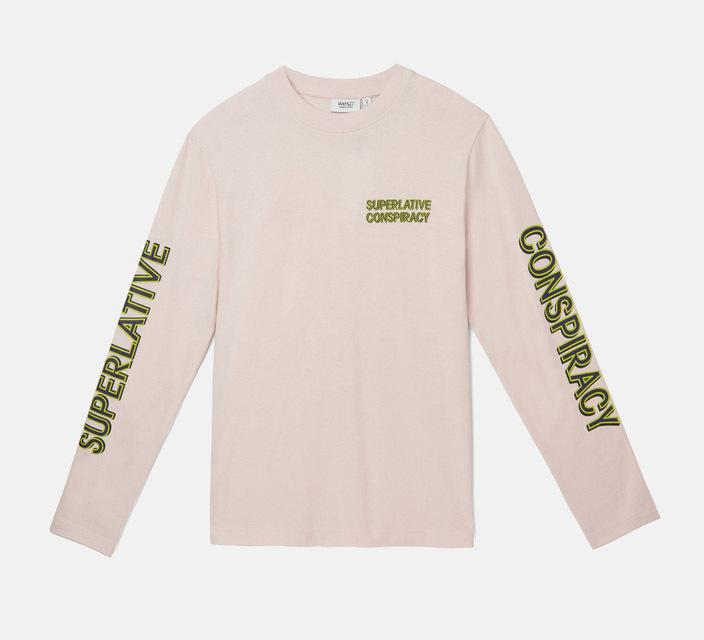 Лонгслив WeSC Fall18 Makai SC ls t-shirt milkshake pink -50%