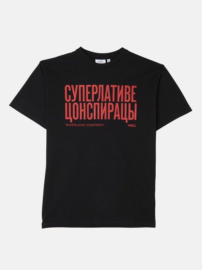 Футболка WeSC SS19 Mason Cyrillic black -50%