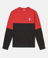 Свитшот WeSC Fall18 Overlay block sweatshirt flame scarlet -30%