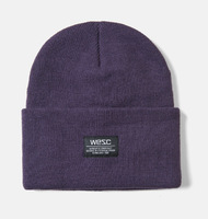 Шапка WeSC Fall18 Puncho beanie midnight liliac