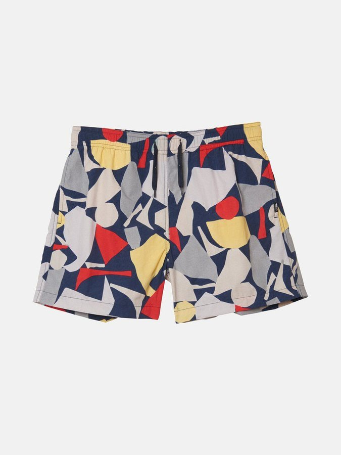Пляжные шорты WeSC SS19 Zack printed swim pants navy -50%