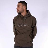 Худи Quasi HOQ19 Word hood sweatshirt dark olive -30%