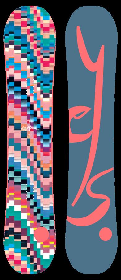 Женский сноуборд YES Emoticon 143 -40%