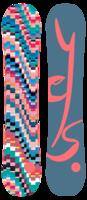 Женский сноуборд YES Emoticon 143 -30%