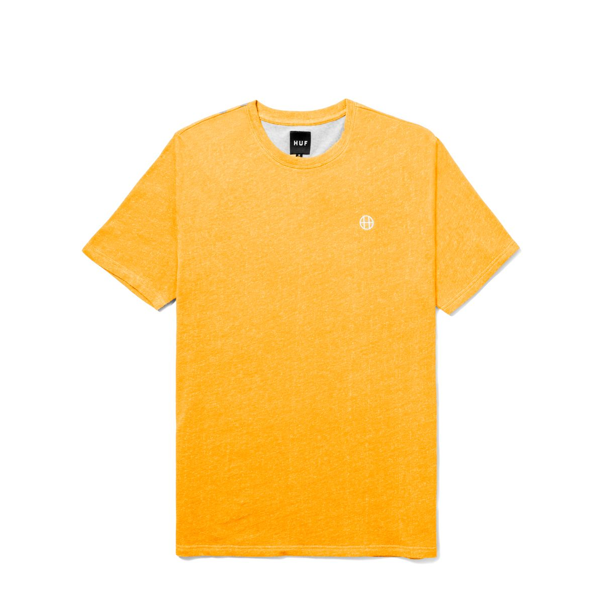 Футболка HUF Heather EMB Circle H tee mustard