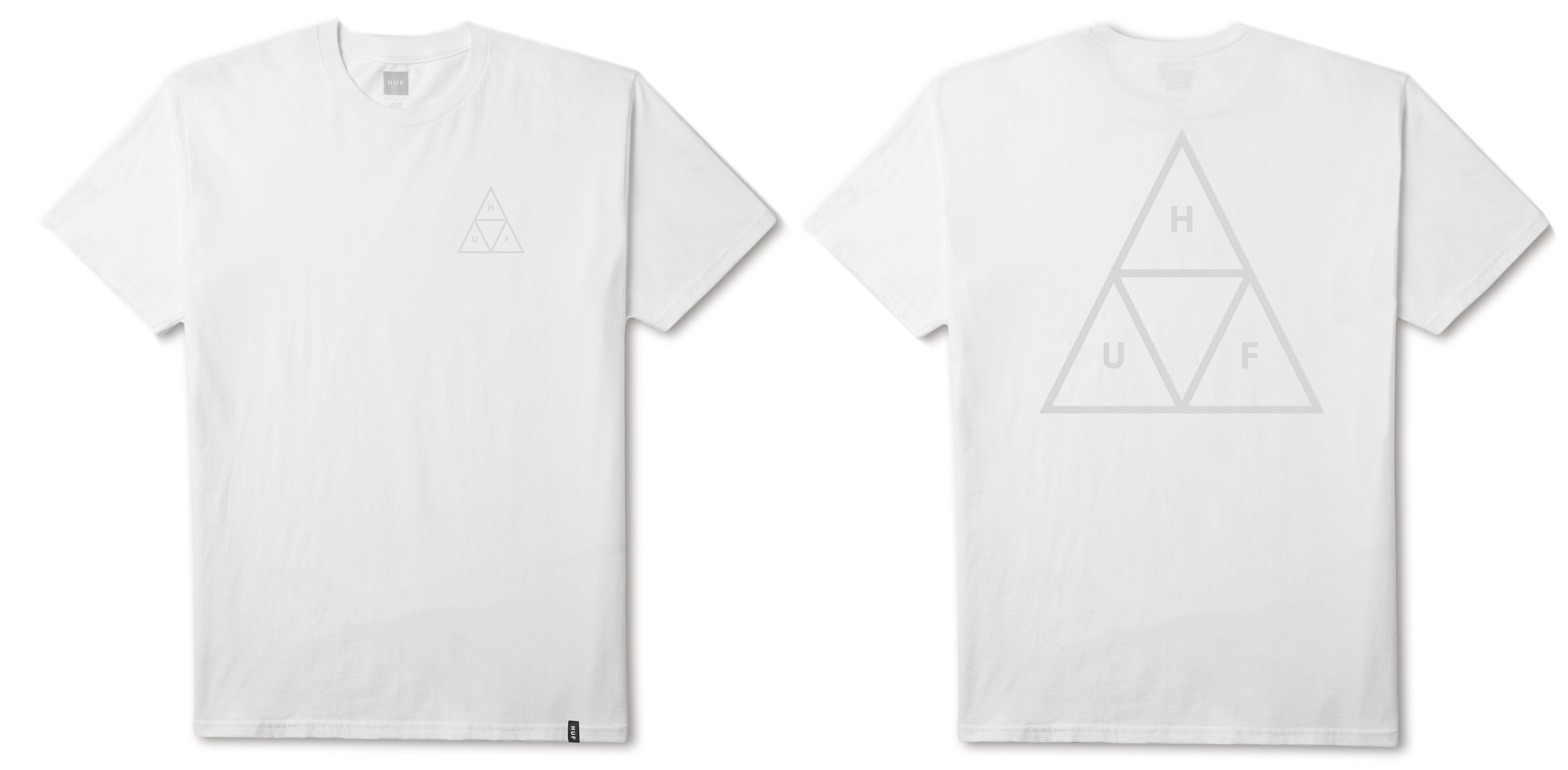 Футболка HUF Triple Triangle Puff tee white